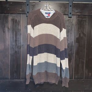 Vintage Style Tommy Hilfiger Chunky Knit Sweater L